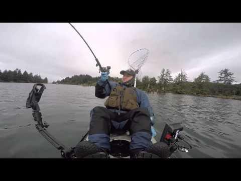 Siletz river kayak salmon fishing youtube for Siletz river fishing report