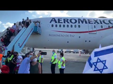 ¡Histórico! Aeroméxico Realiza Su Primer Vuelo A Israel