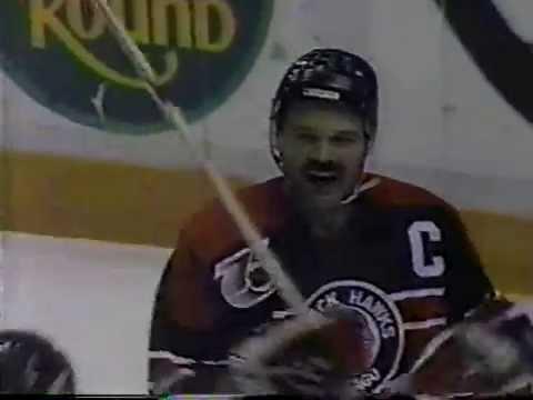 Blackhawks Highlights on WGN News (Oct. 26, 1991)