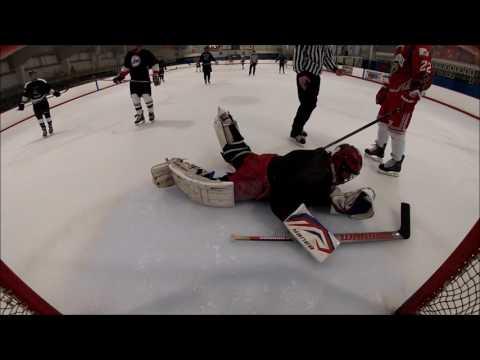 Beer League Hockey Game. Bender Goaltender takes a beating.  *Adult Language*