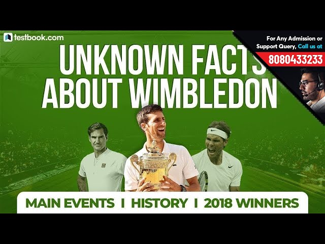 Wimbledon 2018 Highlights | Winner, History & Main Events | Interesting Facts for RRB, Bank & SSC