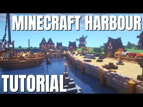 How to Make a Harbour in Minecraft Survival FROM SCRATCH: Mi