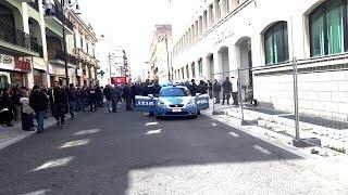 Reggio Calabria uscita degli arrestati Giuseppe Pelle insieme a Romeo Mario