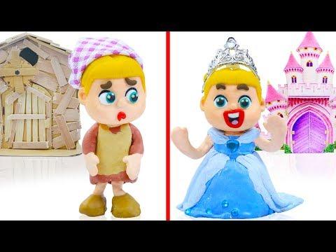 BABY DISNEY PRINCESS MAKEOVER DRESS UP 💖 Animation Cartoons Play Doh