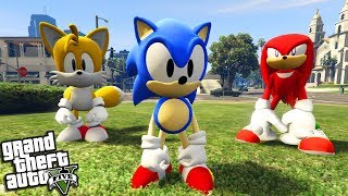 The CLASSIC SONIC the HEDGEHOG goes to Los Santos (GTA 5 Mods)