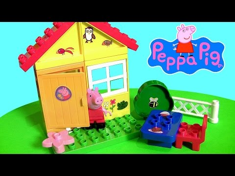 Peppa Pig Garden House Blocks Set Lego Duplo Compatible With Picnic Table  By Disney Collector