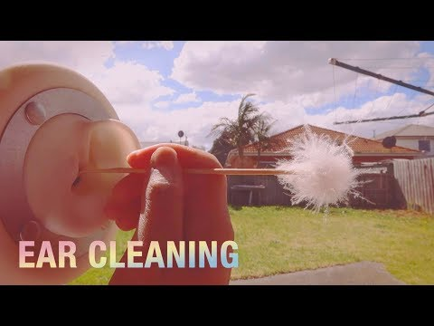 ASMR. Ear Cleaning in the Backyard 🌴Outdoor ASMR🌤Nature Sounds👂🏻