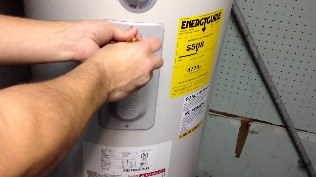 State select water heater reset button