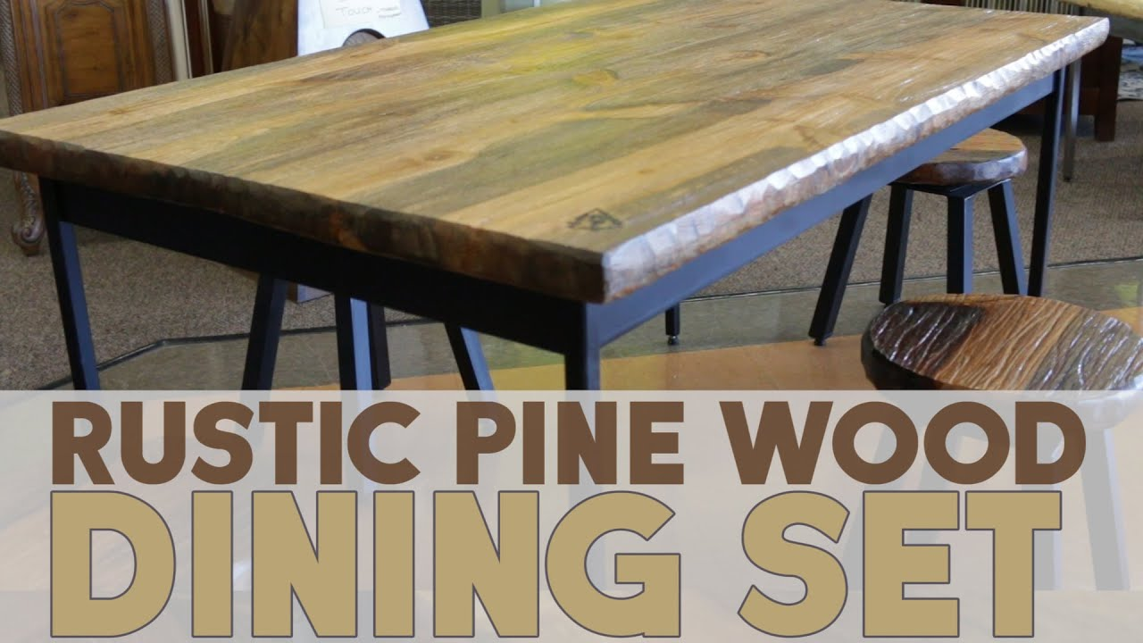 Rustic Pine Wood Dining Set Youtube