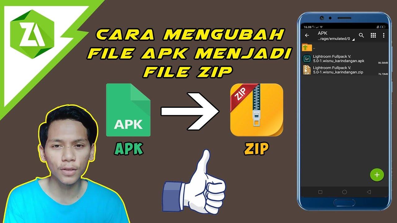 Cara Mengubah Apk Menjadi File Zip Di Android Menggunakan Zarchiver Tutorial Zarchiver Youtube
