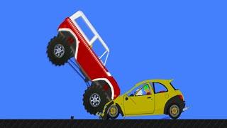 Phun Algodoo Ultimate Car Destruction #8
