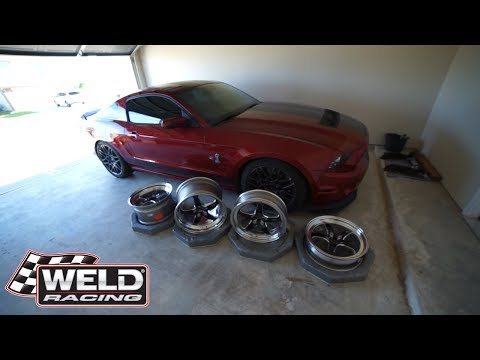 MY NEW WELD DRAG WHEEL SETUP FOR MY SHELBY GT500