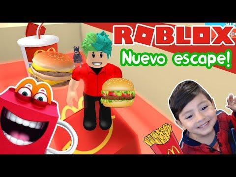 Escape Del McDonalds En Roblox | Nuevo Escape McDonalds Obby! | Juegos Roblox Para Niños