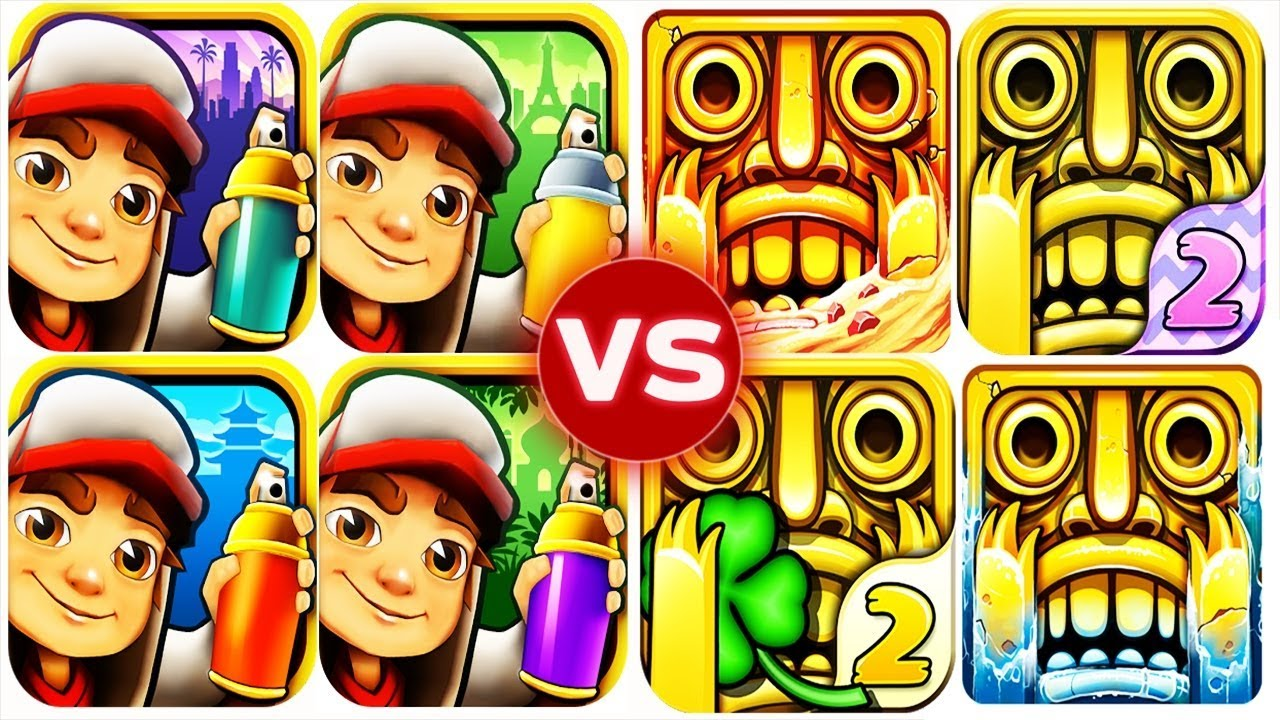 Temple Run 2 Vs Subway Surfers Epic Run Full Gameplay Hd Youtube