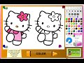 Hello Kitty Coloring Pages For Kids - Hello Kitty Cartoon Characters Page