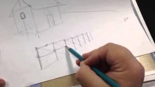 Carol Bradshaw, Artist - Fence in Perspective