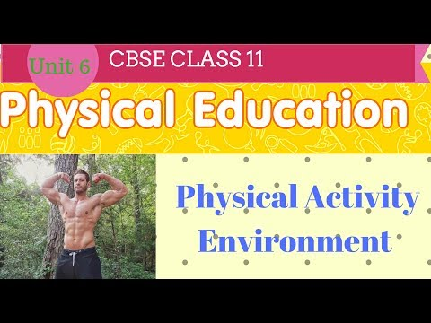 Physical activity environment class 11 chapter 6