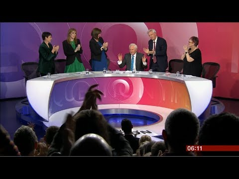 David Dimbleby hosted his last 'Question Time' (UK) - BBC News - 14th December 2018