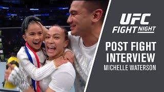 "UFC Philadelphia: Michelle Waterson - ""I Just Focused On Fighting"""
