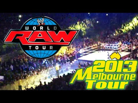 WWE Australia World Tour 2013 - Melbourne Friday July 26th LIVE! Footage