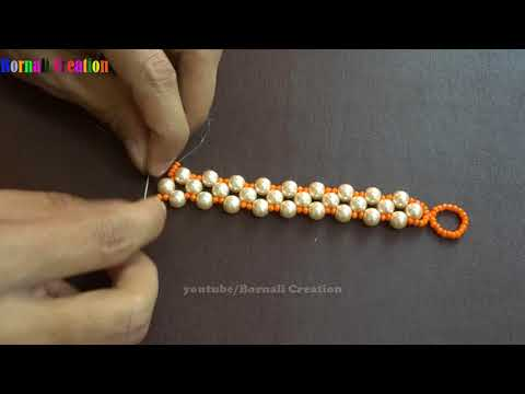 How to make super easy pearl beads bracelet | diy jewelry making at home