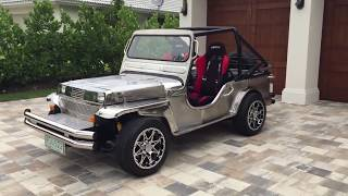 Stainless Steel Willys Army Jeep (sort of) Replica Review and Test Drive by Bill Auto Europa Naples