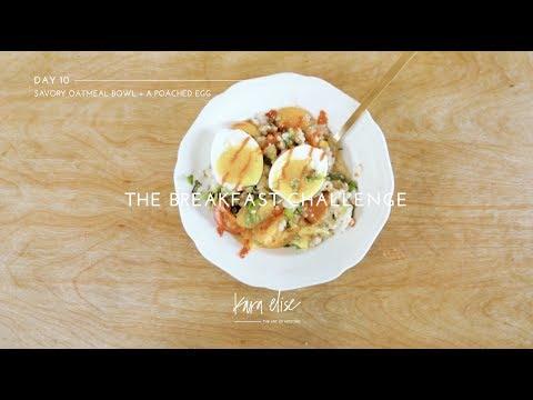 Savory Oatmeal Bowl + A Poached Egg a super healthy breakfast!
