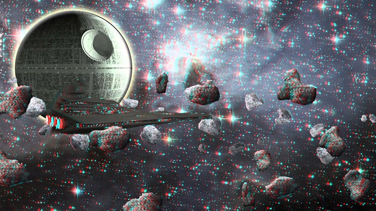 Red Cyan 3d Wallpapers Star Wars In 3d Star Destroyer And Death Star Red Cyan