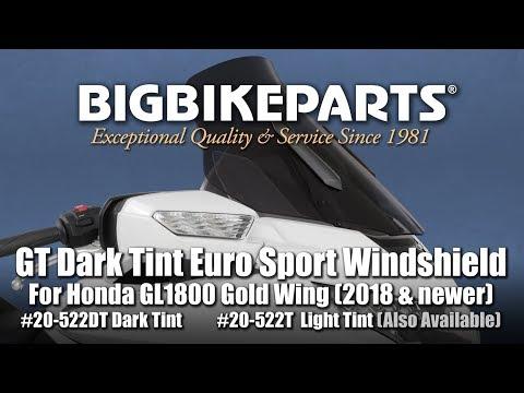 Dark Tint GT Euro Windshield For Honda GL1800 Gold Wing (2018-)