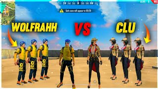 WOLFRAHH VS CLU FACTORY CHALLENGE 😂| 4 VS 4 WHO WILL WIN ?| AJJU BHAI | #ajjubhai #factoryfreefire