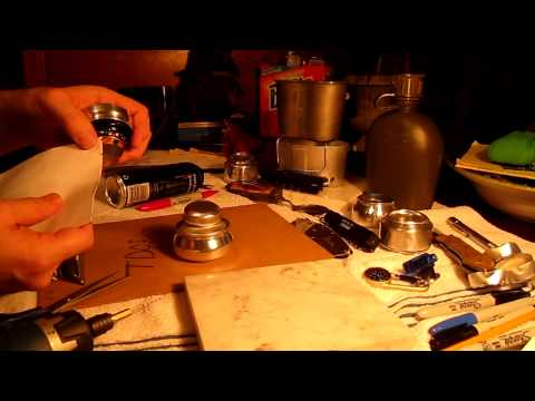 How to Make a Trangia Alcohol Stove (monster can) Easy