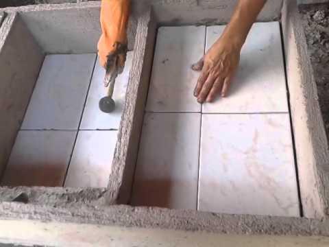 Enchapar pila 3 youtube Lavadero ceramica
