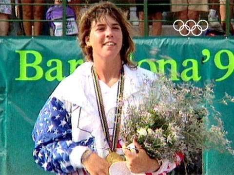 Jennifer Capriati Wins Gold Barcelona 1992 Olympics