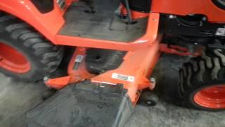 How long does it take to Remove the Mower from a Kubota BX