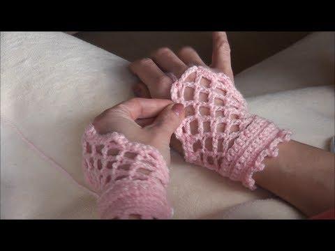 crochet gloves, romantische \