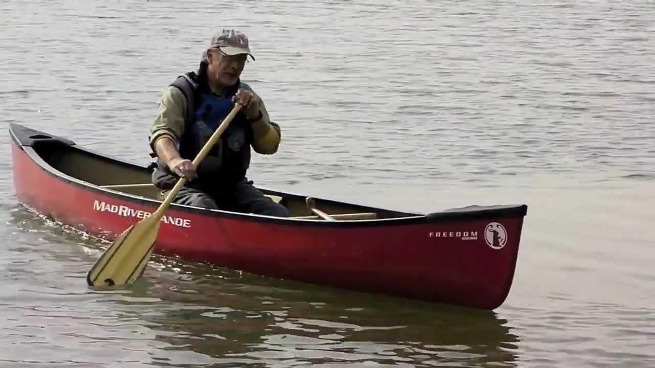 Mad river canoe freedom solo youtube for Solo fishing canoe