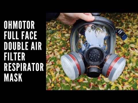BEST PPE MASK?! OHMOTOR FULL FACE DOUBLE AIR FILTER RESPIRATOR MASK REVIEW