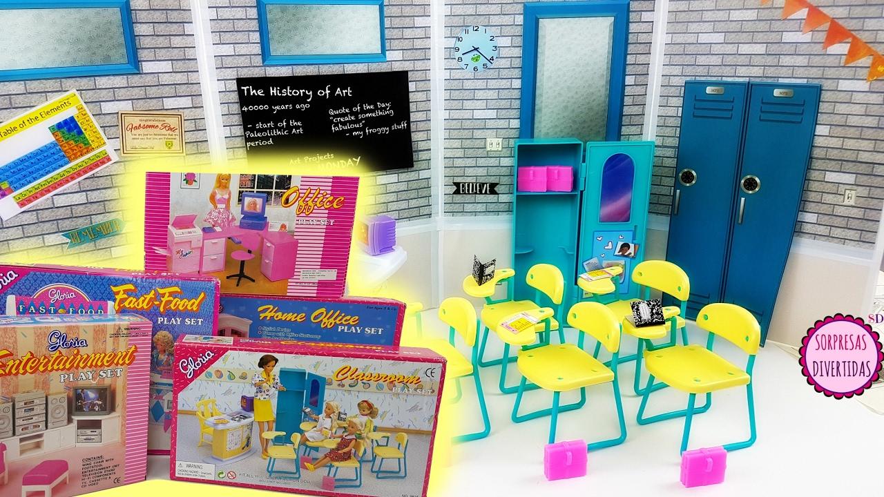 Accesorios, muebles y juguetes para muñecas Barbie Retro - YouTube