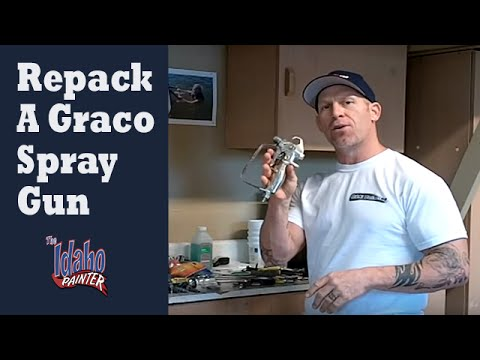 How to Repack or Repair A Graco Airless Spray Gun.   Graco airless gun repairs.