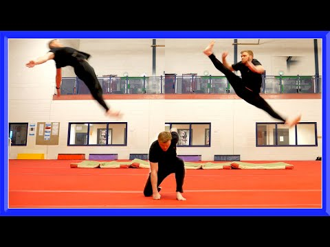 Taekwondo Kicking & Flip Training   Ginger Ninja Trickster