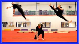 Taekwondo Kicking & Flip Training | Ginger Ninja Trickster