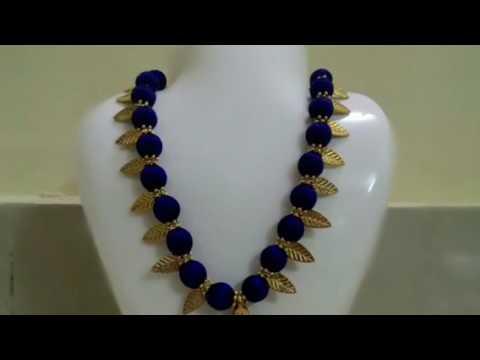 Silk thread jewelry leaf design necklace YouTube