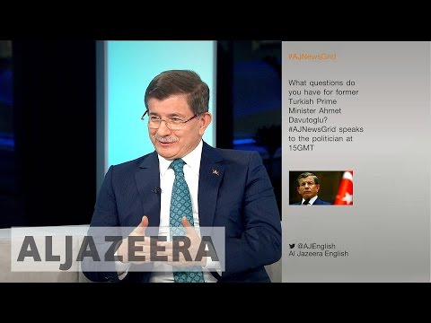 Former Turkish PM Ahmet Davutoglu speaks to Al Jazeera