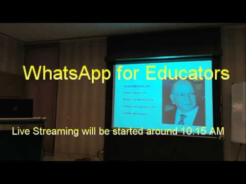 Prof. MM Pant  Live Stream - WhatsApp for Educators