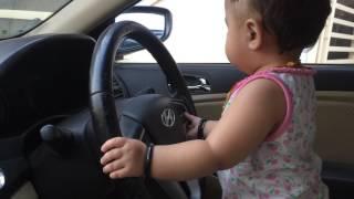 cute baby car  driving