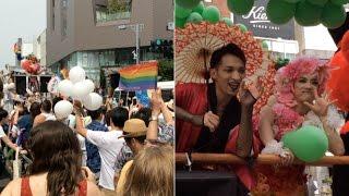 Scenes from Tokyo Rainbow Pride parade 2016