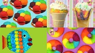 BEST OF RAINBOW Cookies Cupcake Cones Donuts Fish - unicorn party treats