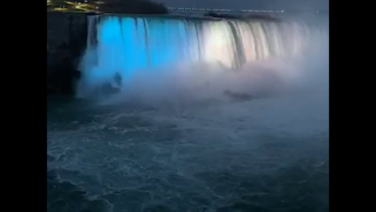 Niagara Falls illuminated to honor victims of deadly mass shooting in Nova Scotia | ABC News