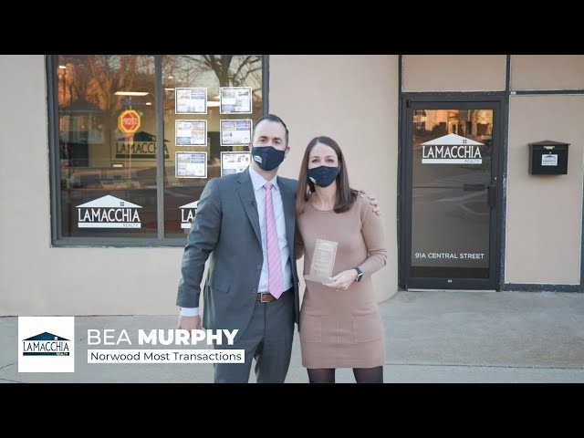 Bea Murphy wins Most Sales Transactions in our Norwood office in 2020