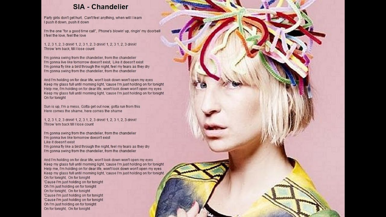 Chandelier sia full song lyrics youtube chandelier sia full song lyrics mozeypictures Image collections